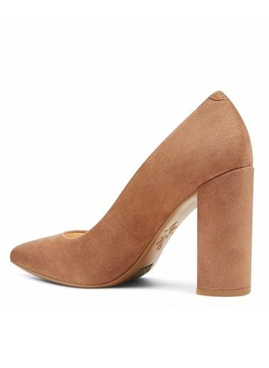 Nine West Kalın Topuklu %100 Süet Ayakkabı Ten